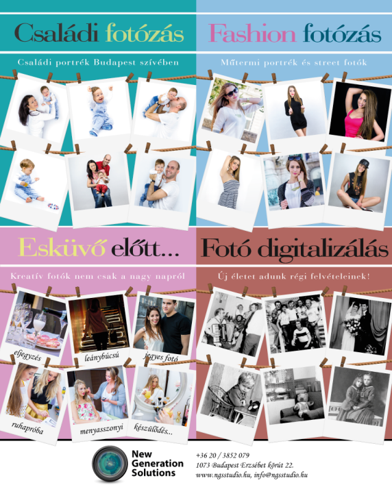 Családi fotózás, fashion fotózás, esküvői fotózás és fotó digitalizálás