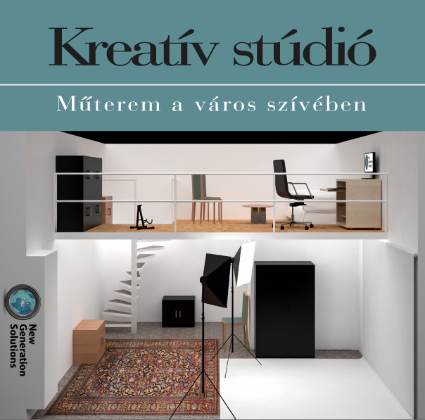 Kreatív stúdió - műterem a város szívében